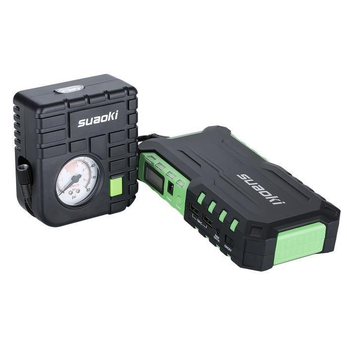 SUAOKI G7 Plus 18000mAh Booster Batterie 600A Courant de Cr/ête Jump Starter D/émarrage de Voiture Alimentation El/éctrique durgence LED 80 PSI Compresseur dair