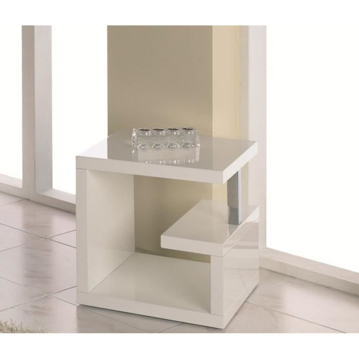 Table d 39 appoint en mdf coloris blanc dim l49 achat vente table d - Table and co vente en ligne ...