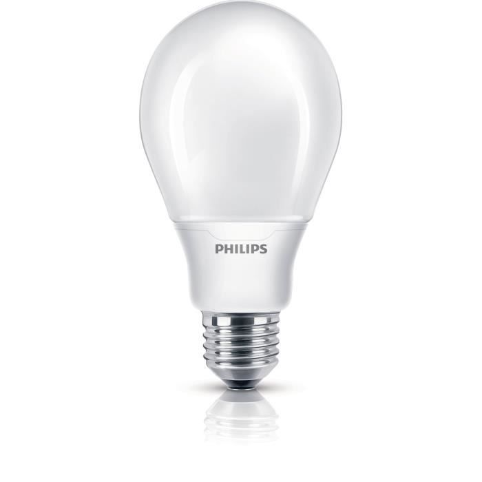philips eco softone ampoule fluo compacte 20w e27 achat vente ampoule led verre soldes. Black Bedroom Furniture Sets. Home Design Ideas