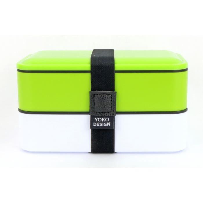 LUNCH BOX - BENTO  YOKO DESIGN Lunch box 2 étages - Coloris vert - 12