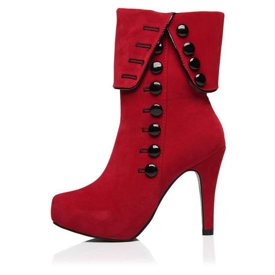 Bottines Femmes Talons hauts Mode Chaussures BBZH-XZ022Rouge39