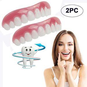 SOIN BLANCHIMENT DENTS 2PC Comfort Fit Flex Cosmetic dents prothétiques d