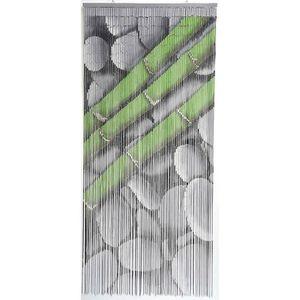 RIDEAU DE PORTE Rideau de porte perle bambou 90x200 cm motif galet