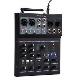TABLE DE MIXAGE auna Blackbird Table de mixage DJ 6 canaux - avec