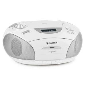 RADIO CD CASSETTE auna RCD220 - Poste radio K7 mobile avec lecteur C
