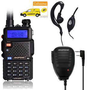 TALKIE-WALKIE Baofeng UV-5R Black Noir Dual Band Talkie Walkie u