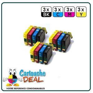 CARTOUCHE IMPRIMANTE Pack 12 cartouches générique compatible EPSON T181