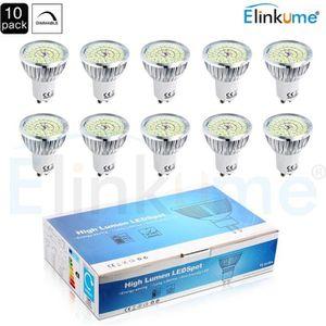 AMPOULE - LED Elinkume Ampoule Spot LED 10x GU10 Dimmable 6W équ