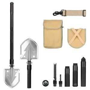 Mini pliable Pick Pelle Bêche Multi-fonction boussole Outil Camping Portable Outil
