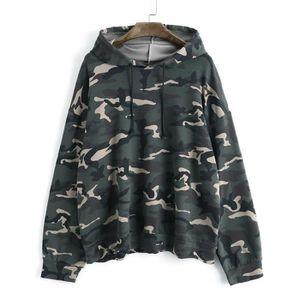 T-SHIRT Femmes manches longues Camouflage Chemisier surdim