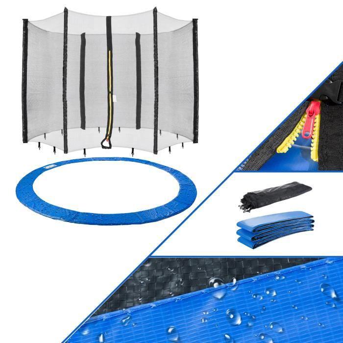 Arebos 244cm Couvre-Trampoline + filet convient pour 6 poteaux nets
