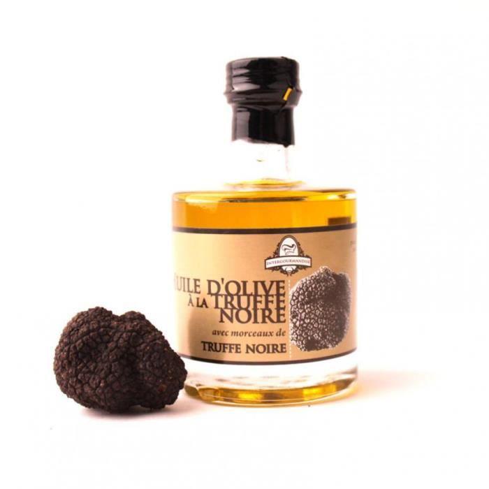 Huile d'olive vierge extra a la truffe noire 100 ml - Intergourmandise