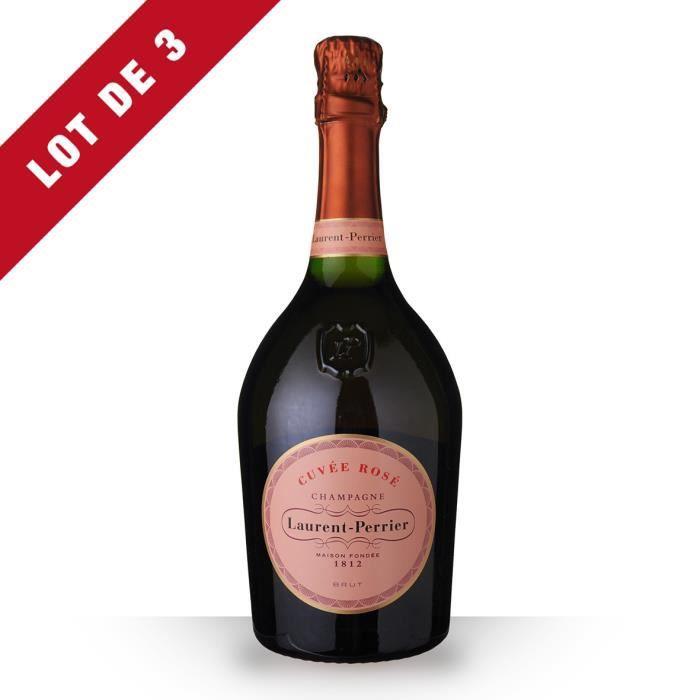 3X Laurent-Perrier Brut Rosé 75cl - Champagne