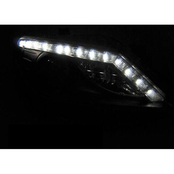 Paire de feux phares Seat Ibiza 6J 08-12 Daylight led noir