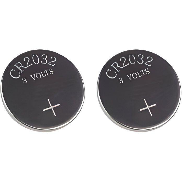 2x CR2032 piles pour télécommande alarme Fob clés