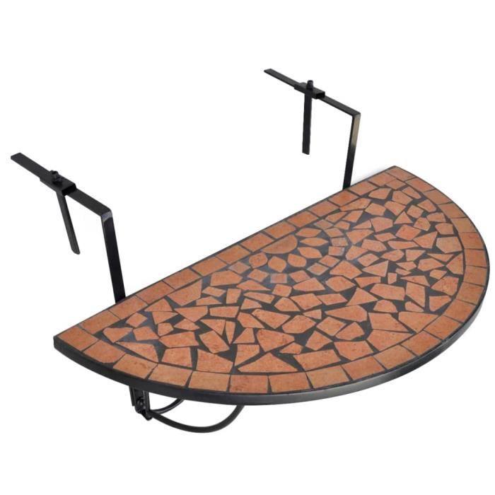 ��Table suspendue de balcon Terre cuite Mosa?que