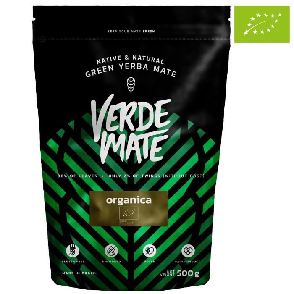Yerba Maté Verde Mate Organica - Verde Mate Organica 500g - 100 % maté brésilien certifié BIO - Haute qualité - Forte stimulation -
