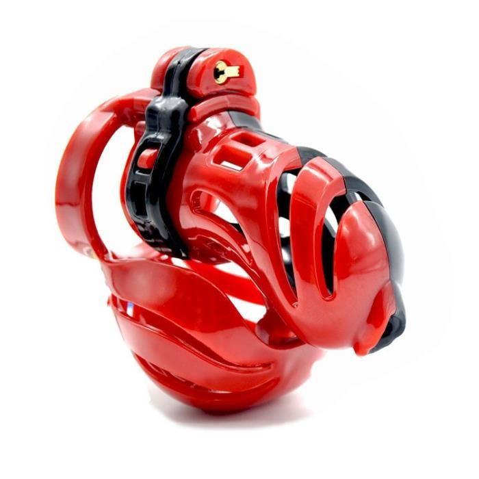 Dispositif électrique masculin nouveau Design 3D Cage de chasteté polyéthylène dispositif de chasteté balle - Type Vert-50mm