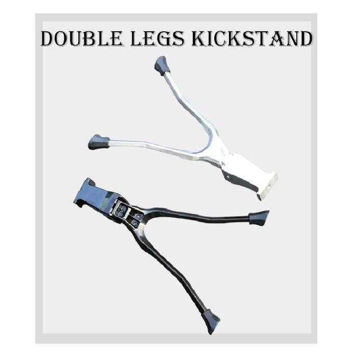 Pièce Détachée,Béquille de vélo Double jambe béquille pour 20 -24- 26 700C Bequille Velo Soporte Bicicleta - Type 20 inch silver
