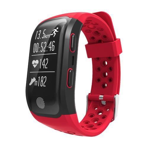 Red Nouveau dispositif portable S908 GPS Sports Smartband IP68 étanche moniteur de fréquence cardiaque Fitness Tracker smartwatches
