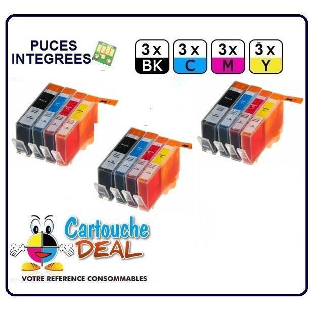 x12 HP364 XL : HP Photosmart Premium B110 B209 B210 B8550 C309 C310 C410 Cartouche générique compatible