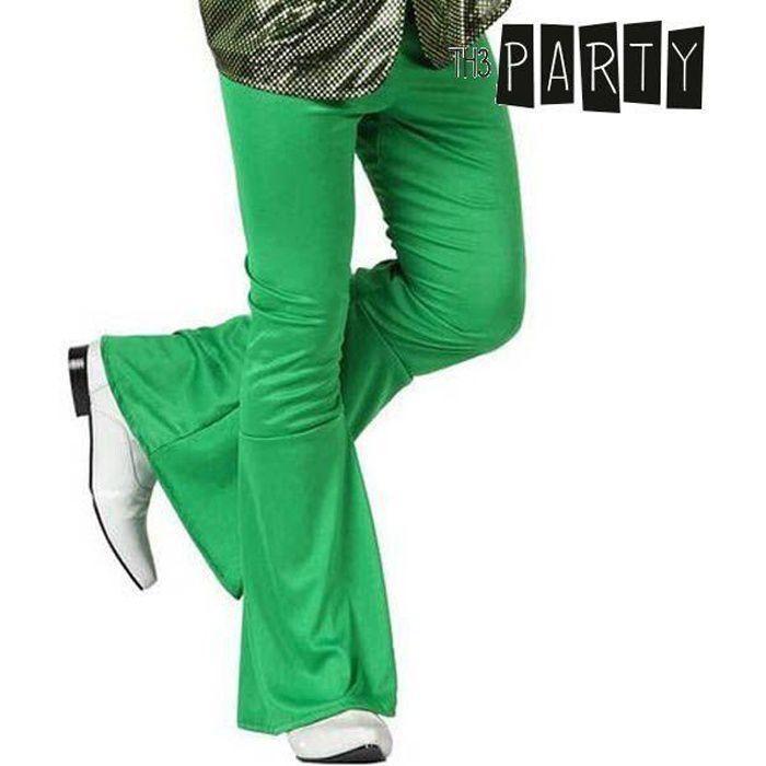Pantalon pattes d'éléphant disco vert - Accessoire Taille - M/L