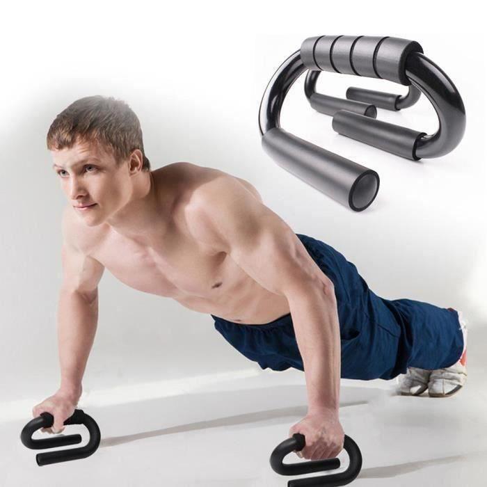 Support push-up de type S - Équipement de fitness d'intérieur avec support push-up de type S Boîte en cuir