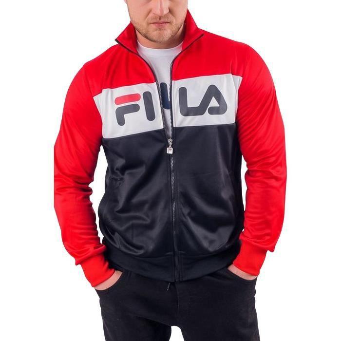 FILA Veste Rouge/Marine/Blanc Homme