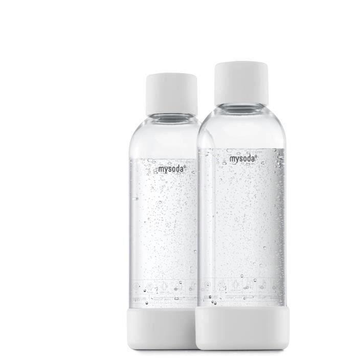 MYSODA - Pack de 2 bouteilles White PET et Biocomposite 1L