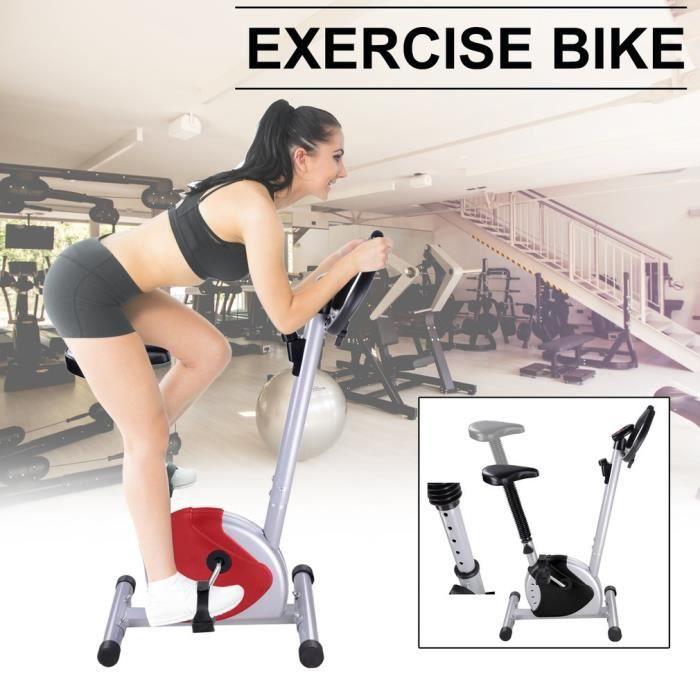 F-Bike et F-Rider - Hometrainer - entraîne tout le corps - entraînement cardio capacité de 125 KG - rouge