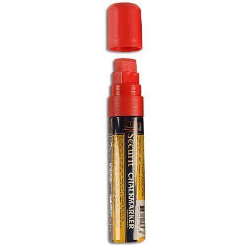 Securit - Marqueur craie liquide - Pointe rectangulaire - Largeur de trait 7 à 15 mm - Rouge Import Royaume Uni