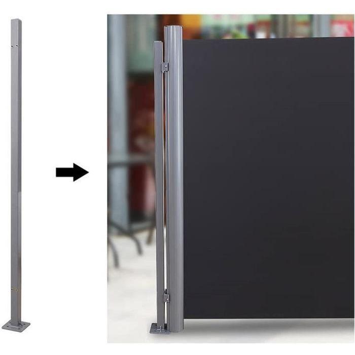 Barre-support pour fixer le store sans mur 11,5 x 11,5 x 152 cm GSA002 - Poteau de Fixation pour Store latéral, Accessoire pour Bris