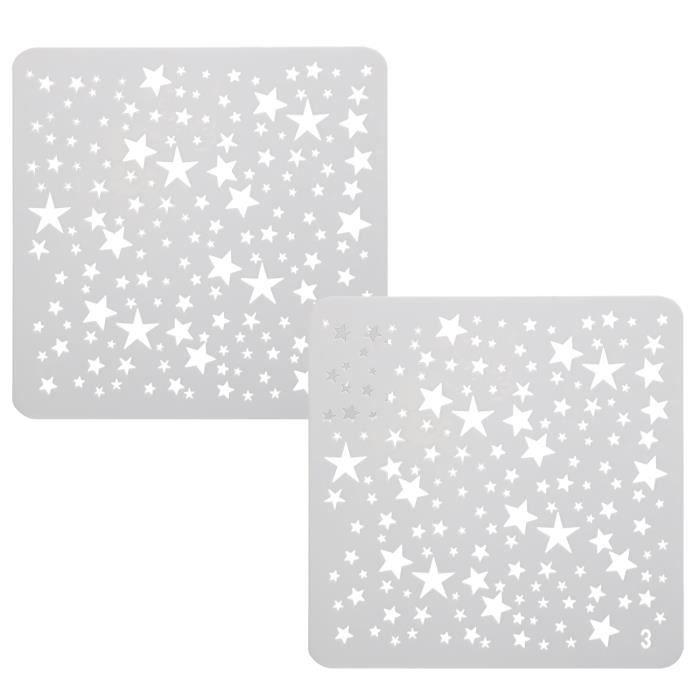 Modèles de Pochoirs de Dessin Mini Étoiles pour la Fabrication de Cartes Collimage TRIXES
