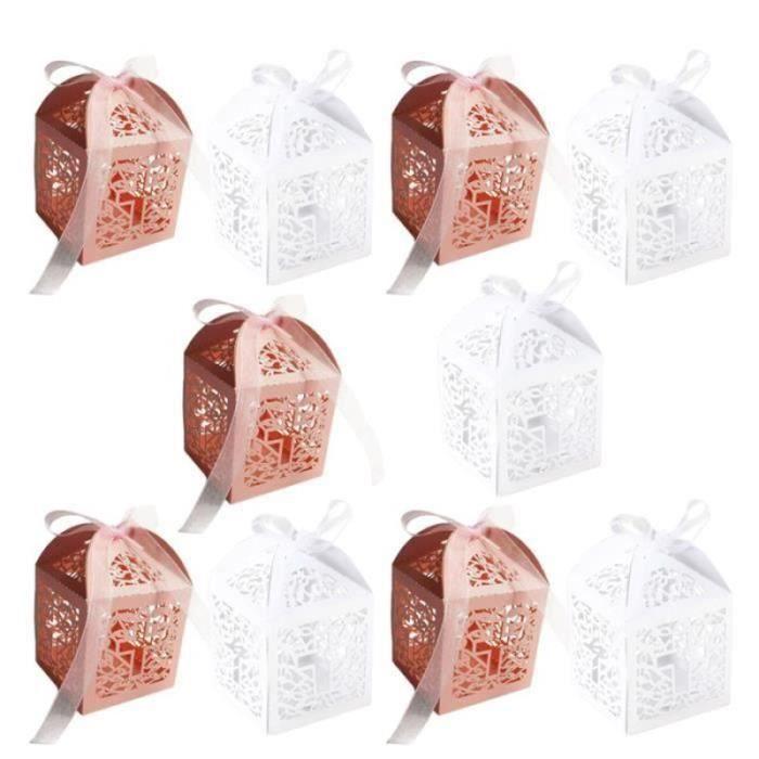 LY22593-100pcs boîte à bonbons élégant évider Unique présente des boîtes de chocolat pour le nouvel an CONFISERIE DE SUCRE - BON