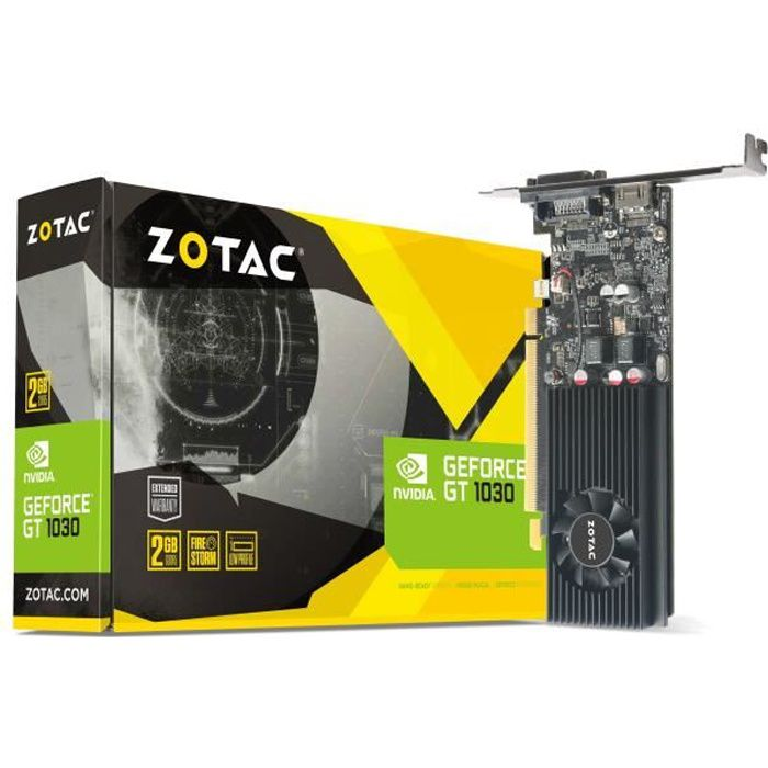 ZOTAC Carte graphique - NVIDIA - GeForce® GT 1030 - 2Go - GDDR5 - 64 bit