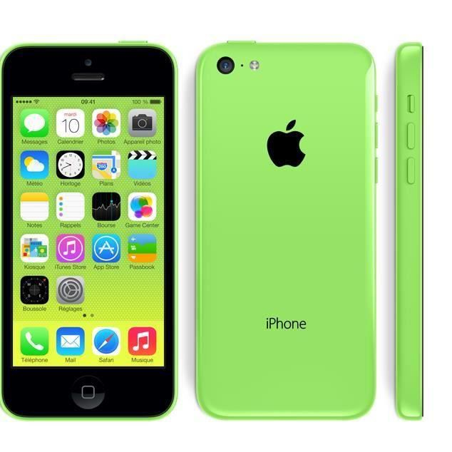 iphone 5c 8go vert reconditionne a neuf achat smartphone. Black Bedroom Furniture Sets. Home Design Ideas