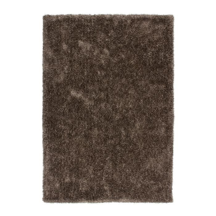 Tapis de salon shaggy approx 40 mm marron avec lurex brillant 200x290 cm a - Tapis shaggy 200x290 ...