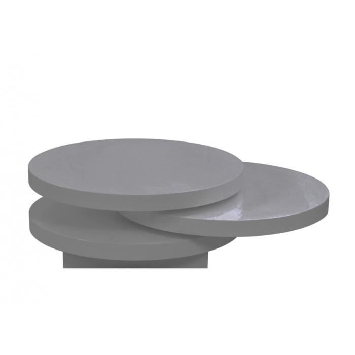 Table basse round couleur gris anthracite laqu achat for Table basse gris anthracite