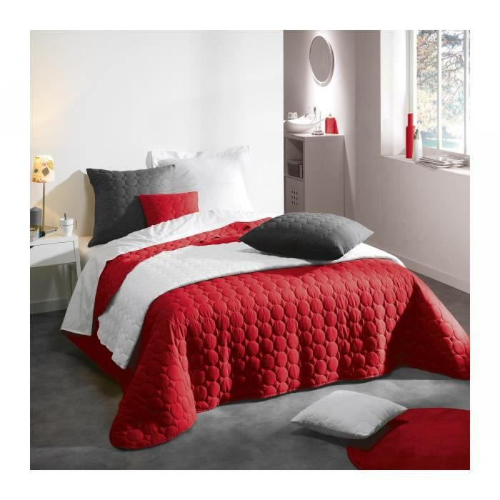 couvre lit matelass 220x240 cm candy rouge achat vente jet e de lit boutis cdiscount. Black Bedroom Furniture Sets. Home Design Ideas
