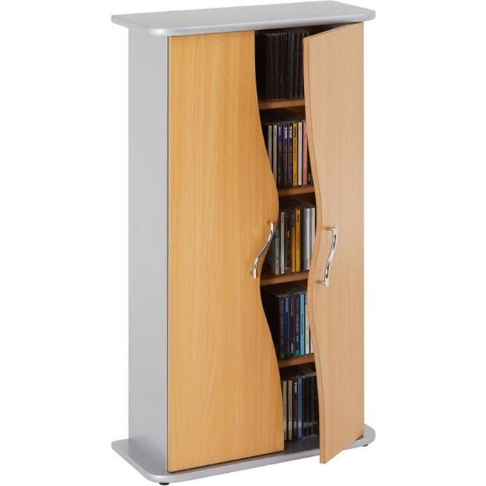 armoire range cd dvd wave achat vente meuble range cd armoire range cd dvd wave cdiscount. Black Bedroom Furniture Sets. Home Design Ideas