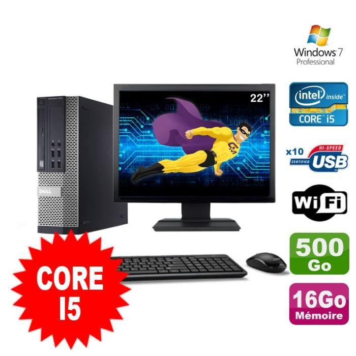 UNITÉ CENTRALE  Lot PC Dell Optiplex 990 SFF I5-2400 3.1GHz 16Go 5
