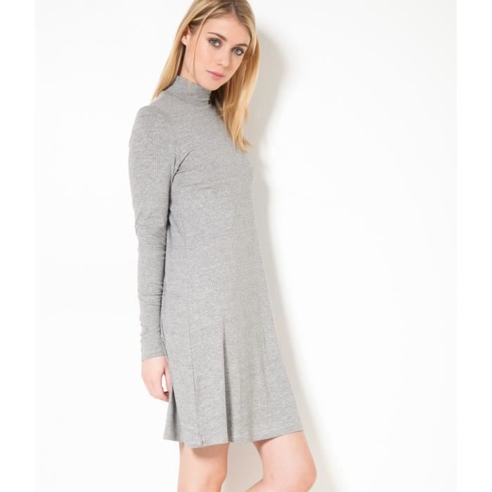 Camaieu Robe Maille Cotelee Rjulia Anthracite Chine Anthracite Chine Achat Vente Robe Bientot Le Black Friday Cdiscount