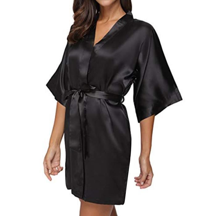 ROBE femme Casual solide 1-2 col V à manches Bandage sa