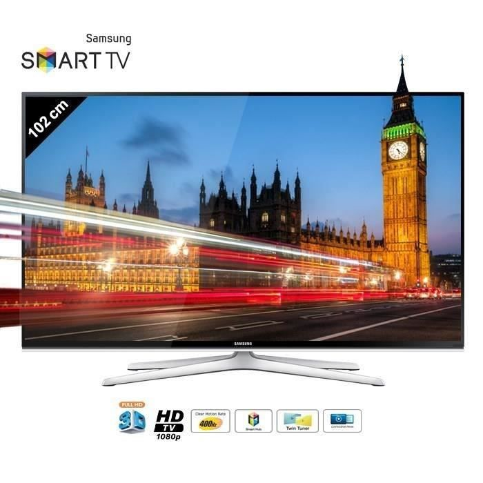 samsung ue40h6500 smart tv 3d 102 cm t l viseur led. Black Bedroom Furniture Sets. Home Design Ideas