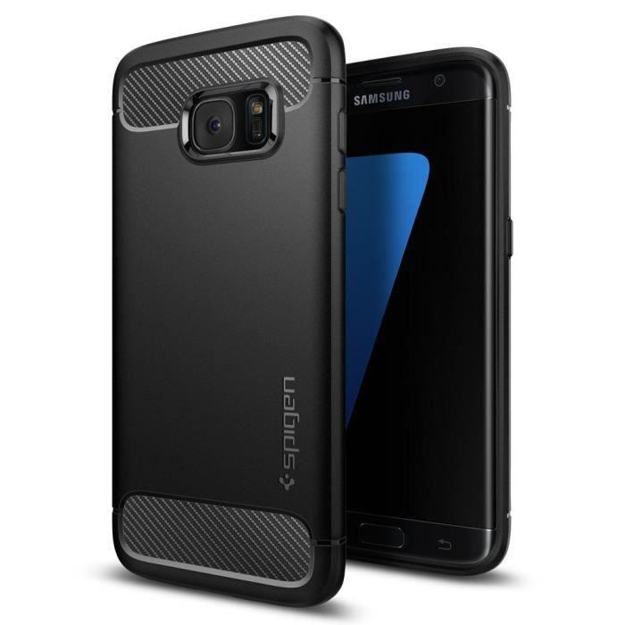 Coque Samsung Galaxy S7 Ghostek Cloak Tough – Transparent / Noir