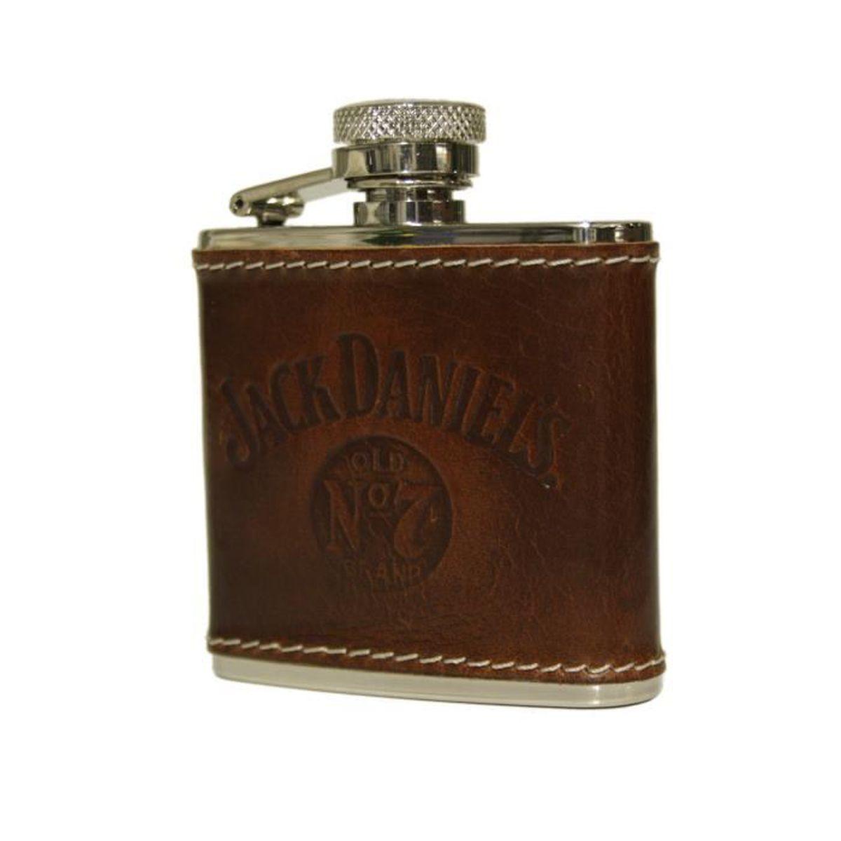 FLASQUE Flasque 2oz cuir occidental Jack Daniel