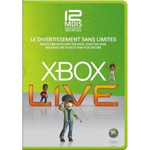 CARTE MULTIMEDIA CARTE D'ABONNEMENT 12 MOIS XBOX LIVE OFFICIELLE XB