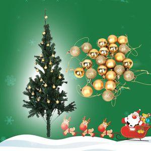 Arbre de Noël Décoration 3 cm incassable Baubles Décorations 24 Pack