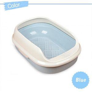 BAC À LITIÈRE Version Bleu - 48x35x18CM - Cn - Bac À Litière En
