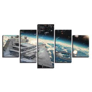 TABLEAU - TOILE Toile tableaux imprimés 5 panneaux Star Wars Mille